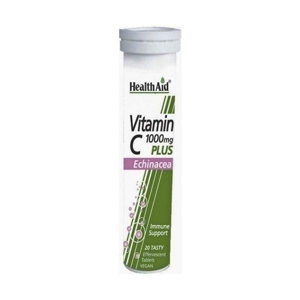 Health Aid Vitamin C 1000mg Plus Echinacea - Lemon 20 αναβράζοντα δισκία