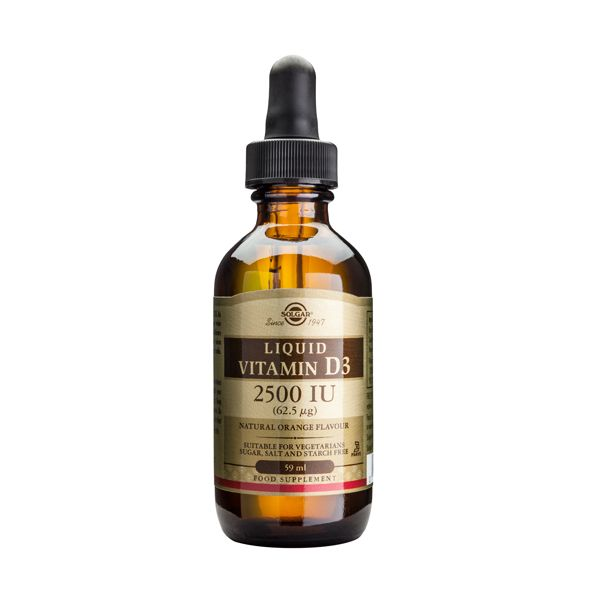 Solgar Liquid Vitamin D3 2500IU (62.5 mcg) Βιταμίνες 59ml