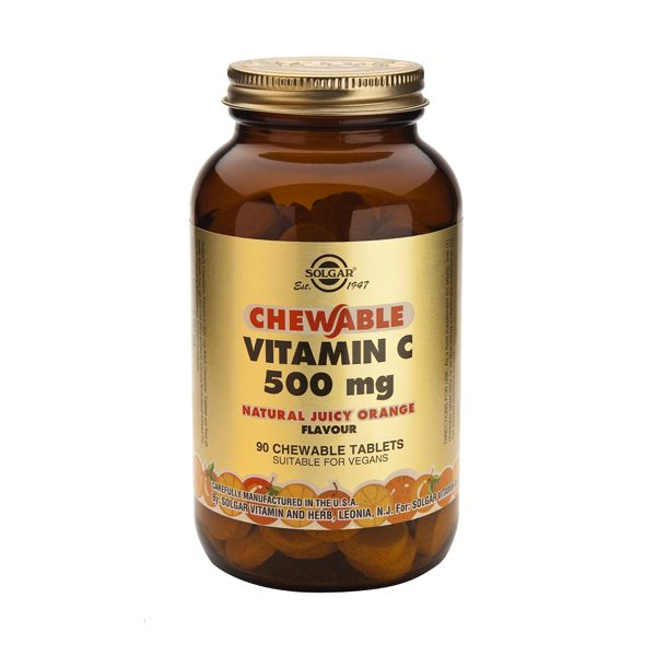 Solgar Chewable Vitamin C 500mg Orange Flavour Βιταμίνες 90 Tabs