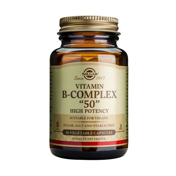 "Solgar Vitamin B-Complex ""50"" High Potency Βιταμίνες 50 Veg. Caps"