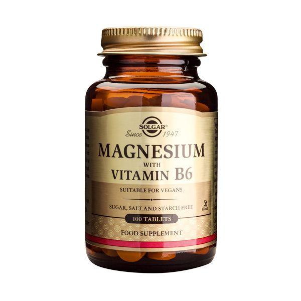Solgar Magnesium With Vitamin B6 Μέταλλα-Ιχνοστοιχεία 100 Tabs