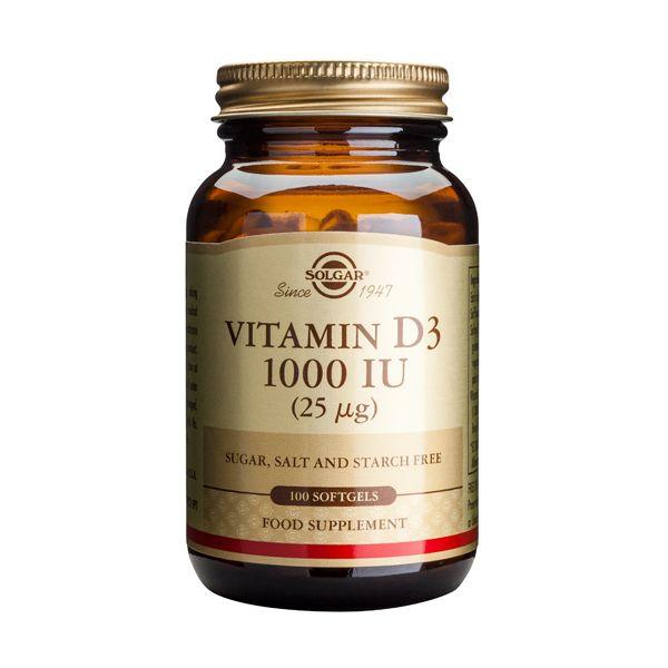 Solgar Vitamin D3 1000IU 25mcg Βιταμίνες 100 Softgels