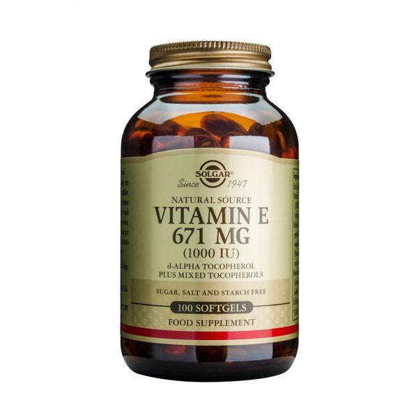 Solgar Vitamin E 671mg 1000IU Βιταμίνες 100 Softgels