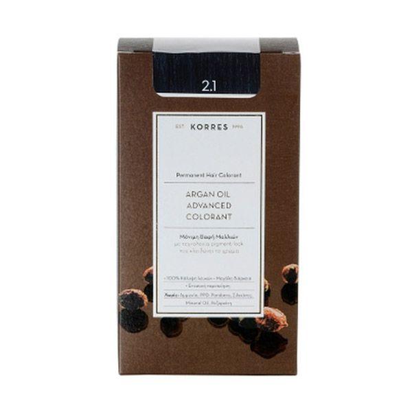 Korres Argan Oil Advanced Colorant 2.1 Μαύρο Μπλέ